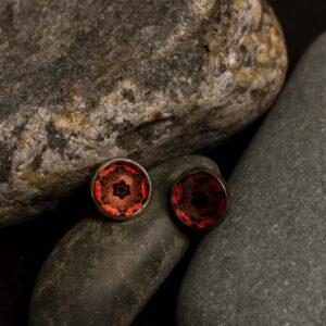 """Kõrvarõngad """"Mandala"""" – punane"""