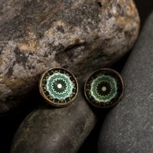 """Kõrvarõngad """"Mandala"""" - roheline"""